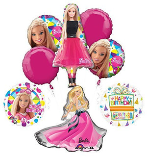 Barbie Birthday Party Supplies and Balloon Bouquet Decorations Barbie Sparkle and Glamour