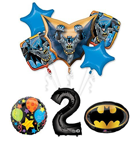 The Ultimate Batman 2nd Birthday Party Supplies and Balloon Decorations