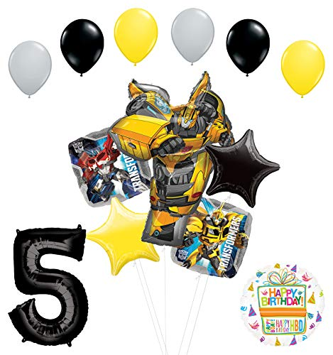 Transformers Mayflower Products Bumblebee 5th Birthday Party Supplies Balloon Bouquet Decorations