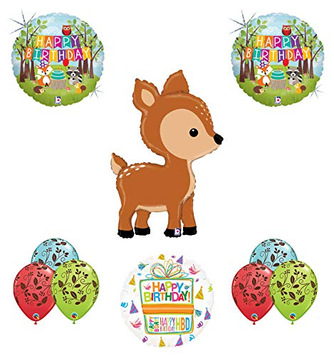 Mayflower Products Woodland Creatures Birthday Party Supplies Baby Shower Deer Balloon Bouquet Decorations