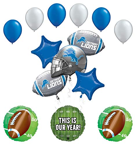 Mayflower Products Detroit Lions Football Party Supplies This is Our Year Balloon Bouquet Decoration