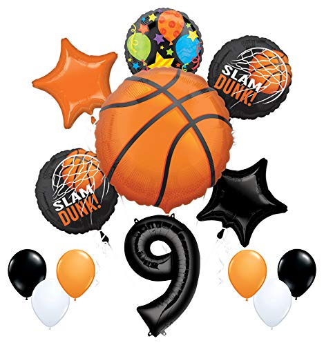 Mayflower Products Basketball 9th Birthday Party Supplies Nothin' But Net Balloon Bouquet Decorations