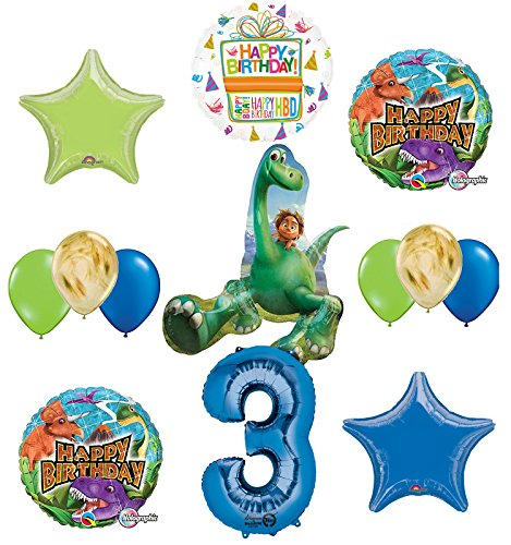 Arlo and Spot The Good Dinosaur 3rd Birthday Party Supplies and Balloon Decorations
