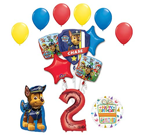 Chase and Friends 2nd Birthday 14 pc Balloon Bouquet Decorations