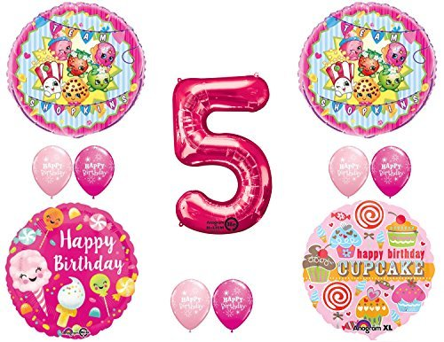 SHOPKINS 5th BIRTHDAY PARTY Balloons Decorations Supplies kit