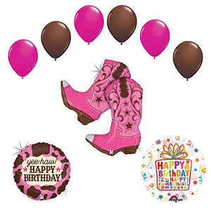 Wild West Cowgirl Boots Birthday Party Supplies and Balloons Decorations