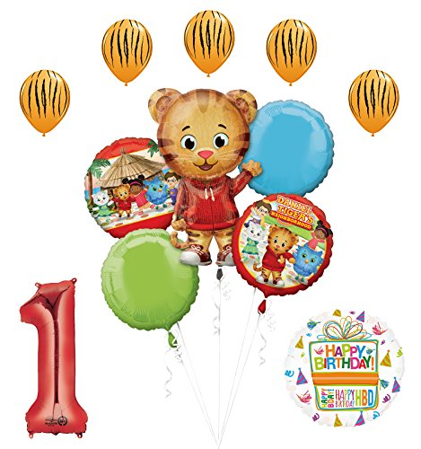 The Ultimate Daniel Tiger Neighborhood 1st Birthday Party Supplies and Balloon Decorations