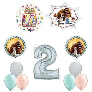 The Secret Life of Pets 2nd Holographic Birthday Party Balloon Supply Decorations
