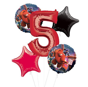 Mayflower Products Big Hero 6 Party Supplies 5th Birthday Balloon Bouquet Decorations