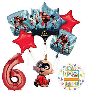 Mayflower Products Incredibles Jack Jack party supplies 6th Birthday Balloon Bouquet Decorations
