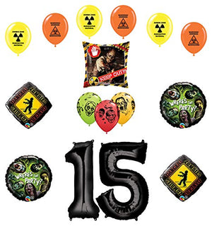 Mayflower Products Zombies Party Supplies 15th Birthday The Walking Dead Balloon Bouquet Decorations