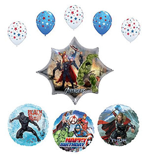 Avengers Black Panther Party Supplies Birthday Balloon Bouquet Decorations