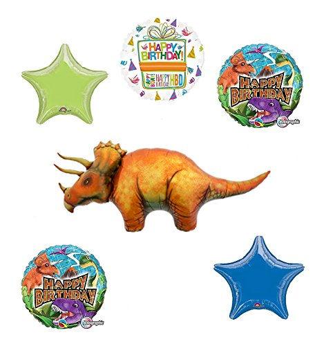Dinosaur Birthday Party Supplies Triceratops Balloon Bouquet Decorations