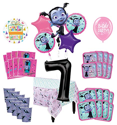 Mayflower Products Vampirina 7th Birthday Party Supplies 8 Guest Decoration Kit and Balloon Bouquet
