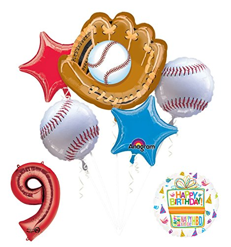 Baseball 9th Birthday Party Supplies
