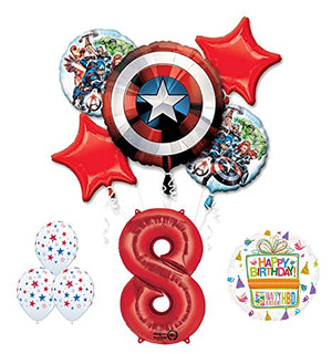The Ultimate Avengers Super Hero 8th Birthday Party Supplies and Balloon Decorations