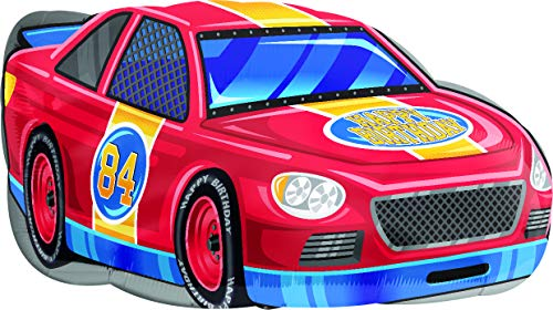 30 Inch Race Car Happy Birthday Foil Balloon