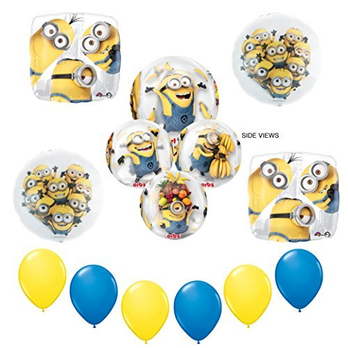 New! Despicable Me Minions Party Supplies ORBZ balloon Decoration kit