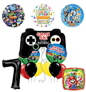 Mayflower Products Video Gamers 7th Birthday Party Supplies Balloon Decorations