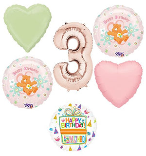 Care Bears Party Supplies and 3rd Birthday Balloon Bouquet Decorations