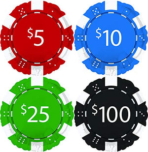 "(8) 18"" Casino Night Poker Chips Foil Balloons"