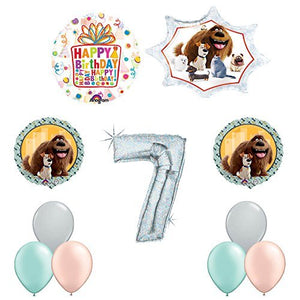 The Secret Life of Pets 7th Holographic Birthday Party Balloon Supply Decorations
