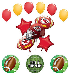 Mayflower Products Kansas City Chiefs Football Party Supplies This is Our Year Balloon Bouquet Decoration