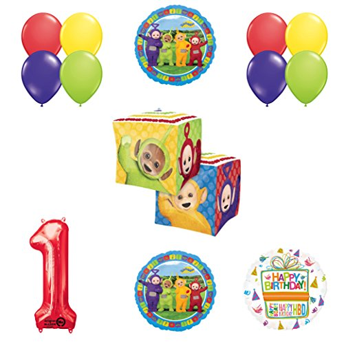Teletubbies 1st birthday CUBZ Balloon Birthday Party supplies and Decorations