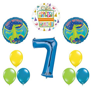 Dragon 7th Birthday Party Supplies and Balloon Decoration Bouquet
