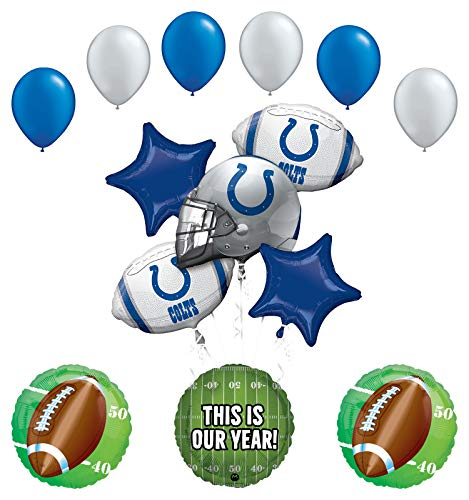 Mayflower Products Indianapolis Colts Football Party Supplies This is Our Year Balloon Bouquet Decoration