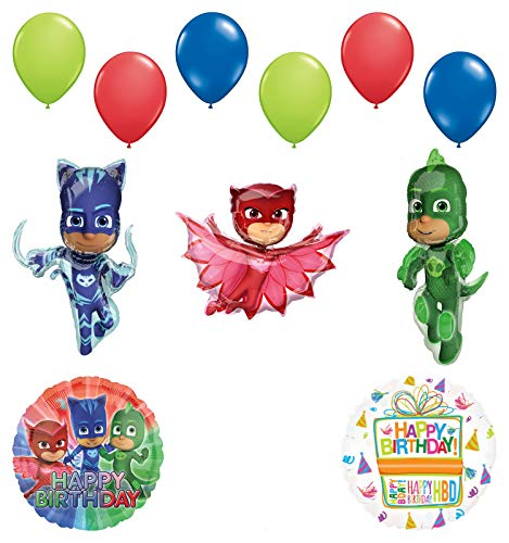 Mayflower Products PJ Masks Birthday Party Supplies Catboy, Owlette and Gekko Balloon Decorations