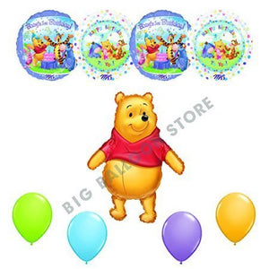 Winnie The Pooh BABY'S FIRST BIRTHDAY Party 9pc Balloons Decorating Kit