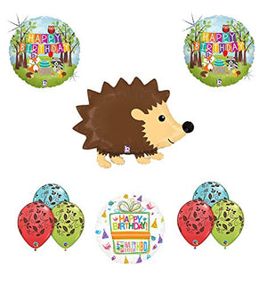Woodland Creatures Birthday Party Supplies Baby Shower Hedgehog Balloon Bouquet Decorations