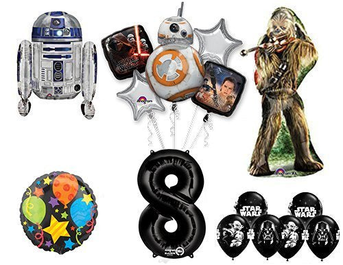 The Ultimate Star Wars 8th Birthday Party Supplies and Balloon decorations