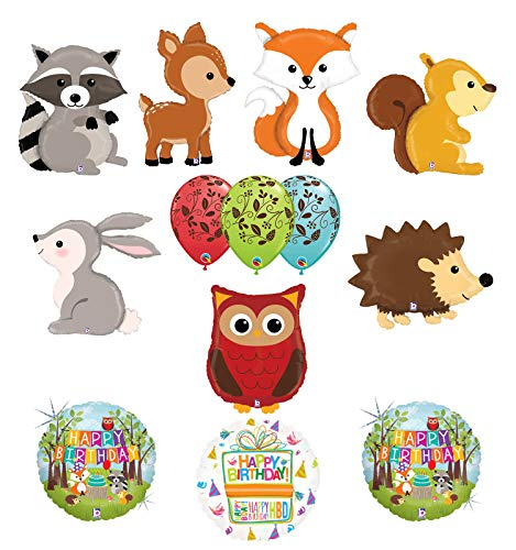 Mayflower Products The Ultimate Woodland Creatures Birthday Party Supplies Balloon Bouquet Decorations