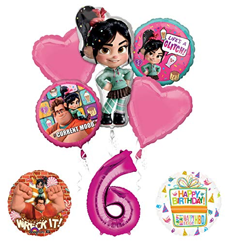 Wreck It Ralph 6th Birthday Party Supplies Balloon Bouquet Decorations