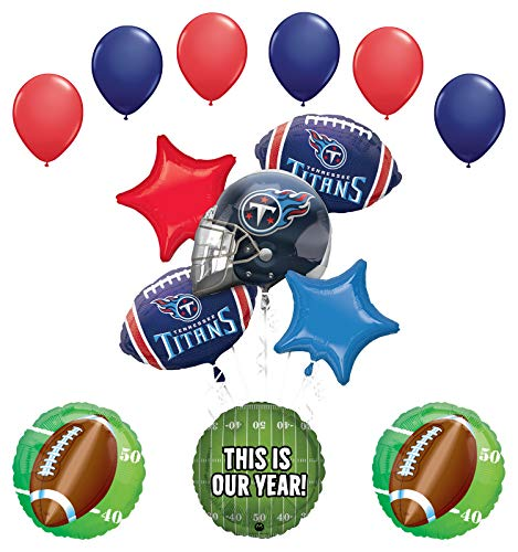 Mayflower Products Tennessee Titans Football Party Supplies This is Our Year Balloon Bouquet Decoration