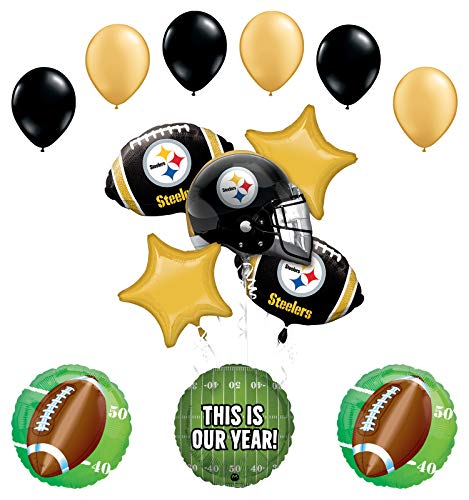 Mayflower Products Pittsburgh Steelers Football Party Supplies This is Our Year Balloon Bouquet Decoration