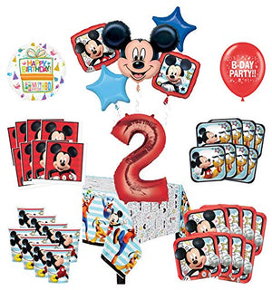 Mayflower Products Mickey Mouse and Friends 2nd Birthday Party Supplies 8 Guest Decoration Kit and Balloon Bouquet