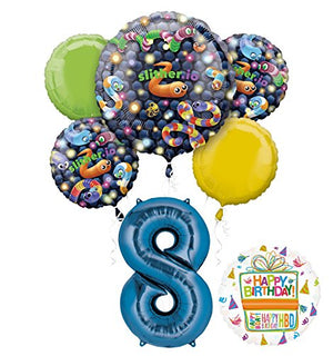 Slither.io Party Supplies 8th Birthday Video Game Balloon Bouquet Decorations