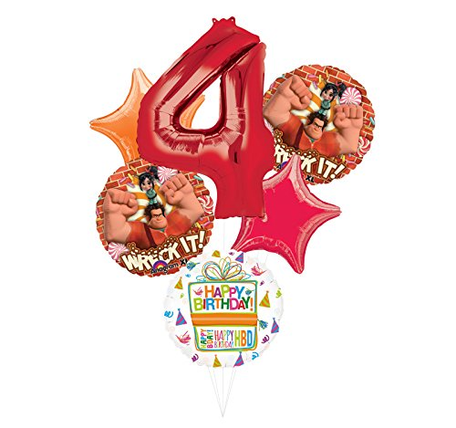 Wreck It Ralph Party Supplies 4th Birthday Balloon Bouquet Decorations