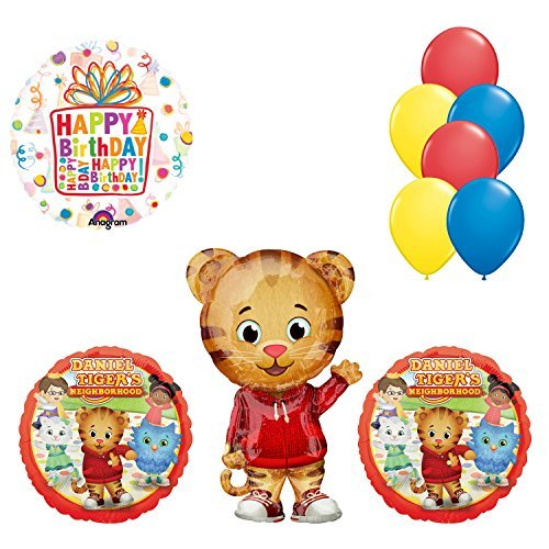 Daniel Tiger Neighborhood Birthday Party Supplies and Balloon Decorations