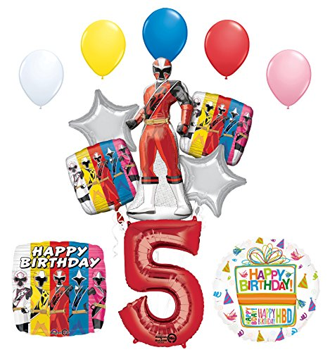 The Ultimate Power Rangers Ninja Steel 5th Birthday Party Supplies and Balloon Decorations
