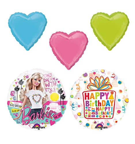 Barbie Birthday Party Supplies and Balloon Bouquet Decorations