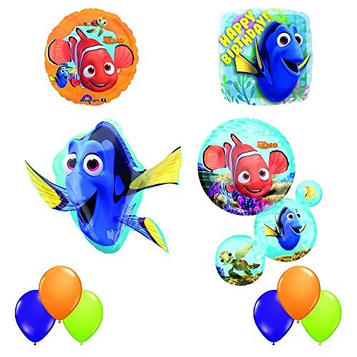 Finding Dory and Nemo Ultimate 10 pc Birthday Party Balloon Decorating Kit