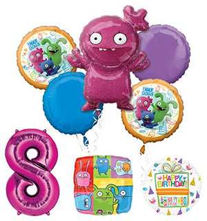 Mayflower Products Ugly Dolls 8th Birthday Party Supplies Balloon Bouquet Decorations