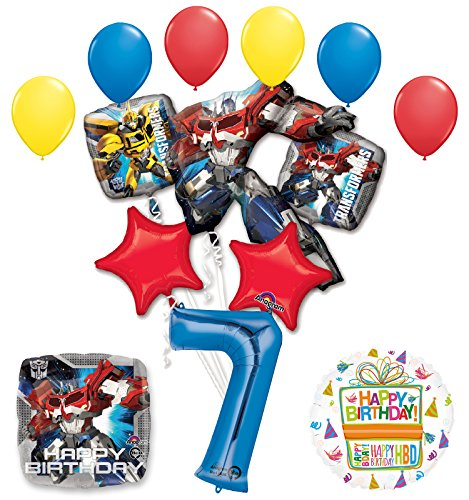 The Ultimate Transformers 7th Birthday Party Supplies and Balloon Decorations