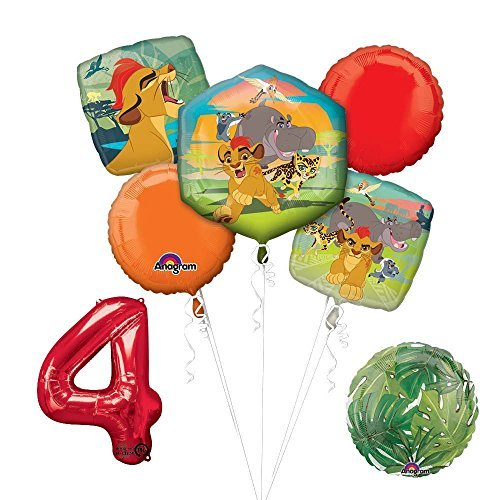 Lion Guard Lion King 4th Birthday Party Balloon Decoration supplies