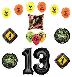 Mayflower Products Zombies Party Supplies 13th Birthday The Walking Dead Balloon Bouquet Decorations