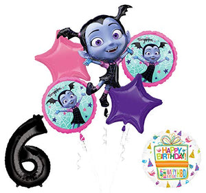 Mayflower Products Vampirina 6th Birthday Balloon Bouquet Decorations and Party Supplies